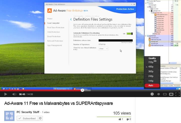 Ad-Aware 11 Free vs MalwareBytes vs SuperAntiSpyware.